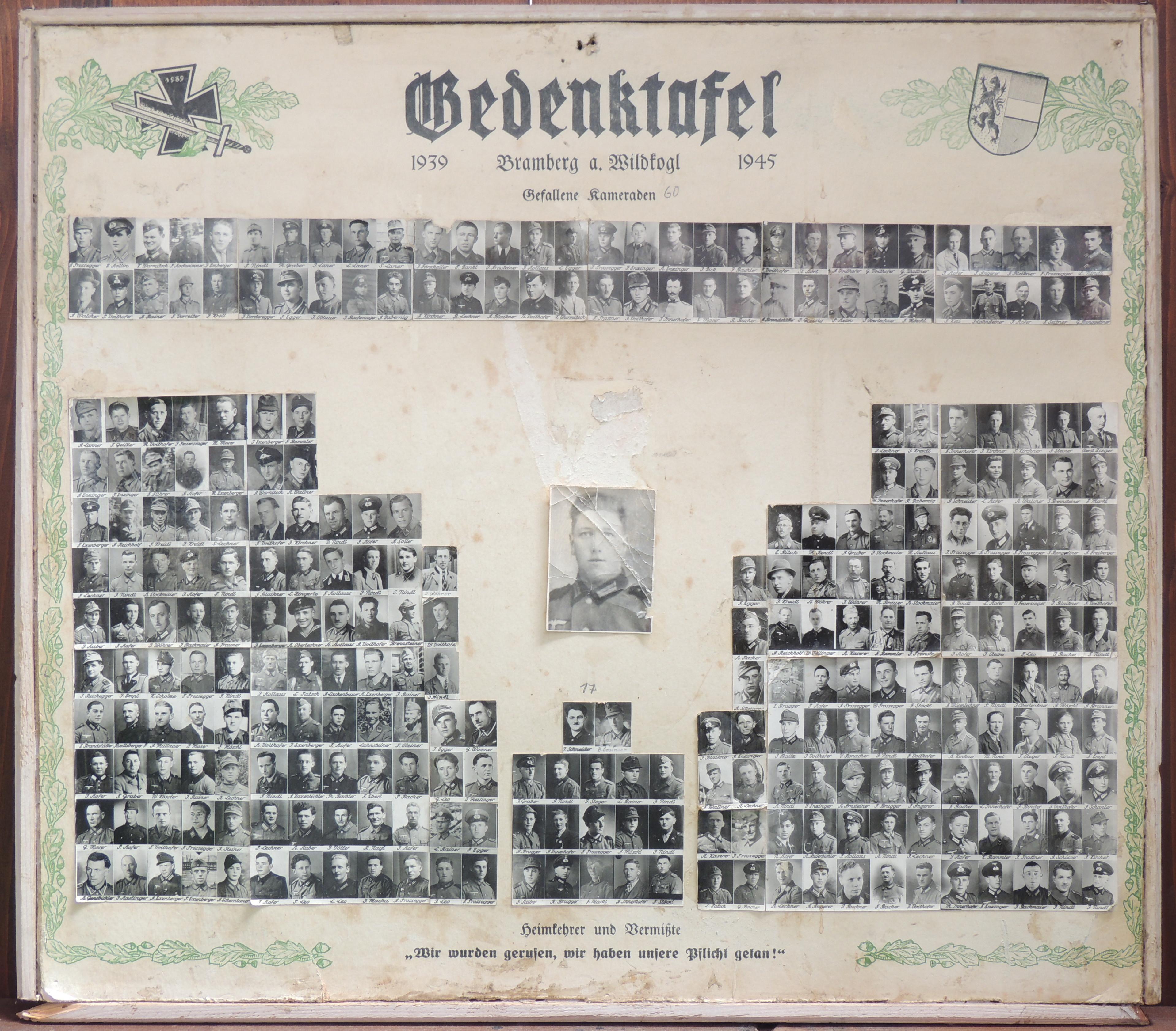 Brambergs Opfer im 2. Weltkrieg